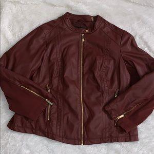 Burgundy like new jacket